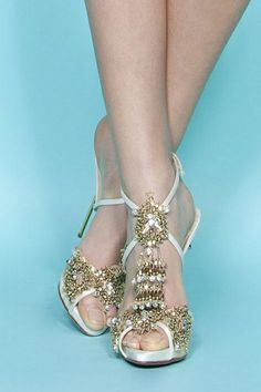 620a1a916c0 Heavily embellished beaded shoes by Marchesa (Pre-Spring Gorgeous Wedding  Shoes