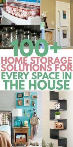 Simple DIY HOME ORGANIZATION IDEAS to delutter. Keep a small, mess free house or apartment for cheap on a budget. Easy dollar store and IKEA storage tips or hacks for the kitchen, fridge, pantry, baki Flylady, Organizing Your Home, Home Organization, Organising, Small Living Room Storage, Living Room Hacks, Cheap Storage, Storage Ideas, Diy Storage Hacks