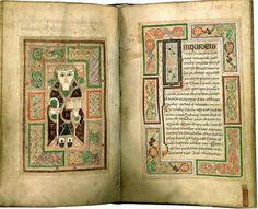 The Feast of Luke the Evangelist. Luke from Irish 9th c. Macdurnan Gospels once owned by #Athelstan [LPL MS1370]