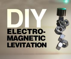 DIY Electro-Magnetic Levitation is achievable for research study practical applications or novelty. Levitate objects with these simple instructions. Energy Projects, Stem Projects, Science Fair Projects, Science Activities For Kids, Cool Science Experiments, Mad Science, Science Electricity, Pseudo Science, Magnetic Levitation