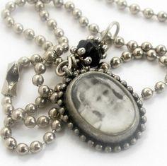"Vintage photo of school girl pendant on 18"" ball chain | Metal_Artistry - Jewelry on ArtFire"