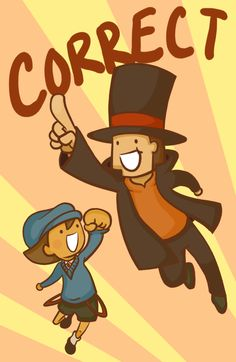 The proudest moment in every Professor Layton game. Lol.