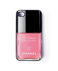 iphone 5 case - chanel nail polish phone cover - iphone5 cover. via Etsy.