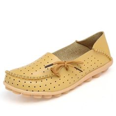 (26.28$) Merkmak Cow Leather Women Shoes New Driving Casual Footwear Moccasins Loafers Soft Leisure Flats Female Candy Color Sapato Mujer