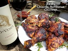 "My recipe for ""Zesty Chianti Barbecue Chicken"" created for DaVinci Wine's ""Chianti at Home"" series. Visit DaVinci Wine on Facebook (cut/paste this link: http://on.fb.me/1iJXGTx ) to VOTE for  your favorite 2014 Storyteller's finalist! ""Content 21+"" #DaVinciWine"
