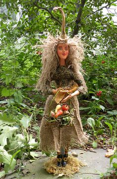 Harvest Witch doll - OOAK Figurative Folk Art from itselemental on etsy