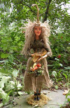 Harvest Witch doll - OOAK Figurative Folk Art from itselemental on etsy