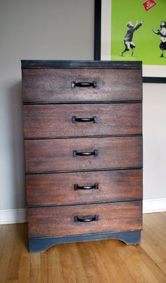 CHEST of DRAWERS Industrial Chic dresser // Malenka