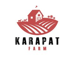 Karapat Farm, a vintage inspired logo design for a Small organic farm that produces goat cheese, fresh eggs,vegetables, cut flowers, herbs, spices!