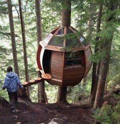 Modern Treehouse. #treehouse #modern #design #childhood #adventure #justawesome