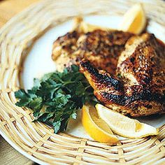 Honey-and-Lemon-Marinated Chicken + more healthy options | http://www.rachaelraymag.com/recipes/dinner-recipes/healthy-chicken-recipes/