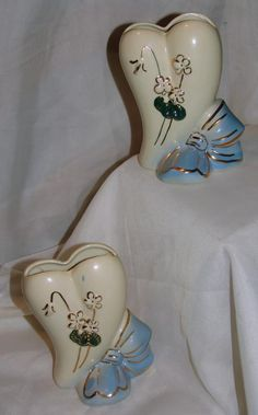 Antique Wall Pockets | Vintage USA Heart Shaped Wall Pockets from 1packrat2another on Ruby ...