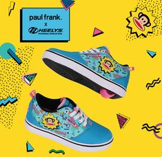 We're getting into some monkey business... Paul Frank X Heelys are here for all your nostalgic feels 🙈 #PaulFrankXHeelys Shoe Releases, Paul Frank, Monkey Business, Feels, Classic, Derby, Classic Books