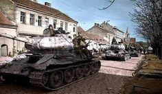 1945, Czechoslovakia T-34 entering the city of Brno
