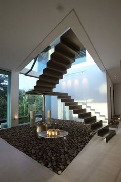 open concept and the zen space on the floor add a water feature