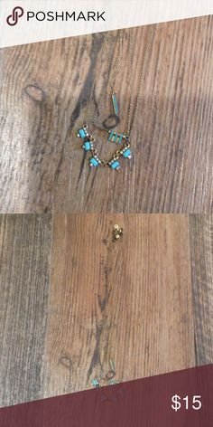 Necklace set Three dainty turquoise LOFT necklaces LOFT Jewelry Necklaces