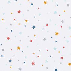 Tissu cretonne imprimé étoiles Circus - Mondial Tissus
