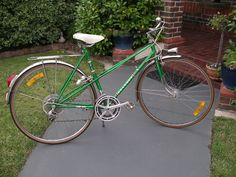 #vintage mixte #peugeot #green