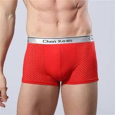 Modal men's boxers colorful Cuecas underwear breathable mesh men underwear…