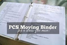 Stress-free Military Move: DIY Moving PCS Binder