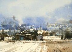 【冬至/ Winter Solstice 】27 x 36cm . watercolor Demo by Chien Chung Wei .