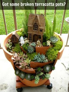 Which spot in your yard would you put this gorgeous fairy garden?  Get more fairy inspiration here:   http://theownerbuildernetwork.co/hf2q
