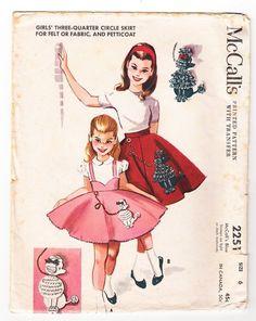McCall's #2251: Girls' Three-Quarter Circle Skirt & Petticoat