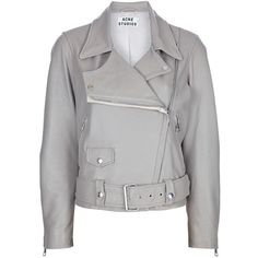 Acne 'Merci' leather jacket ($1,633) ❤ liked on Polyvore- cute!