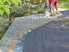 Re-roofing a small house with asphalt roof shingles. | General Roofing Systems Canada (GRS) | Roofing Calgary, Red Deer, Edmonton, Fort McMurray, Lloydminster, Saskatoon, Regina, Medicine Hat, Lethbridge, Canmore, Cranbrook, Kelowna, Vancouver, BC, Alberta, Saskatchewan www.grscanadainc.com 1.877.497.3528