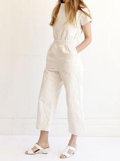 Rachel Comey Utila Jumpsuit - White Denim