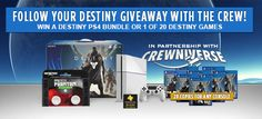 Win a Limited Edition Glacier White PlayStation 4 Destiny Bundle PLUS FPS Freek Phantom OR 1 of 20 copies of Destiny the game for your console of choice!