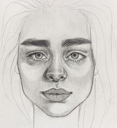 "@crkidraw posted on their Instagram profile: ""если бы у Эмилии Кларк и Хлои Морец была бы дочь, это была бы @mahavsekruto 😂✨ вновь…"" Drawing Process, Faces, Drawings, Art, Art Background, Kunst, The Face, Sketches, Performing Arts"
