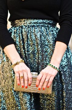 Sequin Skirt #holiday