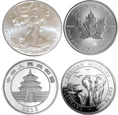 2015 Set of Four Silver Coins: American Eagle, Canada Maple Leaf, Chinese Panda and Somalia Elephant Brilliant Uncirculated at Amazon's Collectible Coins Store Beautiful 1 oz Silver Coin struck in 999 Fine 1 troy oz Silver by US Mint Buy it for your collection or give it as a gift.http://www.amazon.com/gp/product/B00YAQR8NC/?tag=p1nt-20