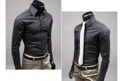 New Fashion Mens Luxury Casual Stylish Slim Fit Long Sleeve Casual Dress Shirts Stylish Shirts, Casual T Shirts, Men Casual, Stylish Outfits, Men Dress, Shirt Dress, Business Shirts, Business Casual, Business Formell