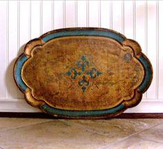 Vintage Italian Florentine Tray by AloofNewfWhimsy on Etsy, $46.00