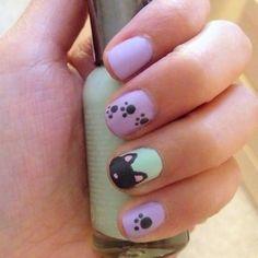 Uñas decoradas: huellas de gatos - Uñas Pasión