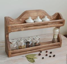 полка для специй из дерева, полочка для специй из дерева, деревянная полка для специй, деревянная полка для кухни, полка из дерева для кухни, мебель из дерева, подарок для хозяйки на кухню, для кухни