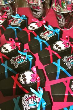 Favors at a Monster High Party. X