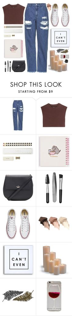 """""""I can't even.. 💌"""" by itaylorswift13 ❤ liked on Polyvore featuring Topshop, adidas Originals, Kate Spade, Pusheen, Sephora Collection, Converse, Urban Decay, Frontgate, Paperself and Black"""