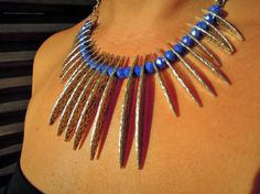 Handmade Bohemian Statement Necklace  Tribal by ellajewelrystore