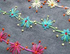 Nahtzugabe: Blumen (XIX + XXI)