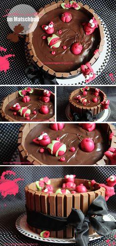 ! Miss von Xtravaganz !: [Rezept] Schweinchen im Schokoladen-Matsch-Bad-Kuchen