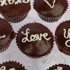 Handwritten Valentine Cupcakes With Chocolate Glaze Recipes ...