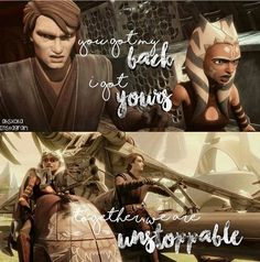 Ahsoka and Anakin are so great together. (No, I don't ship them. I just think they are a great master and apprentice duo.)