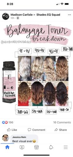 Gorgeous Hair Color, Hair Color Dark, Beautiful Long Hair, Cool Hair Color, Redken Color Formulas, Hair Color Formulas, Redken Hair Color, Redken Hair Products, Baylage