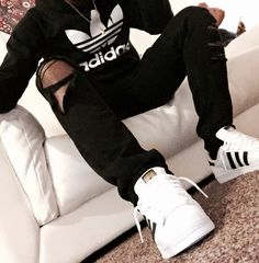 BLACK FASHION - Shawn, 22, Chicago, IL. Adidas pullover. Topshop...