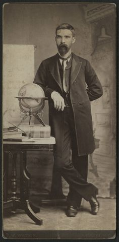 Honestly, I have no context for this photograph. All I know is that he was either a friend/acquaintance of Dr. Charles Duncan McIver, or one of his teachers at Chapel Hill. I will say that I like that globe.
