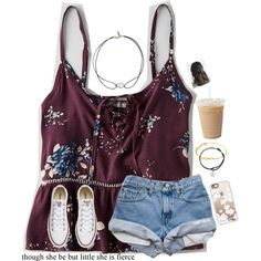 A fashion look from August 2016 featuring American Eagle Outfitters tops, Converse sneakers and Vanessa Mooney necklaces. Browse and shop related looks.