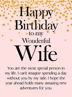 Birthday wishes for wife quotes. I'm sending this loving birthday greeting to my darling wife. I'm sorry I can't be there with you to celebrate, but just know I'm counting down the minutes until I can. Happy birthday my love. Happy Birthday Wife Quotes, Birthday Message For Wife, Birthday Wishes For Women, Happy Birthday Wishes For Her, Birthday Wishes For Girlfriend, Birthday Wishes Quotes, Happy Birthday Images, Birthday Love, Birthday Messages